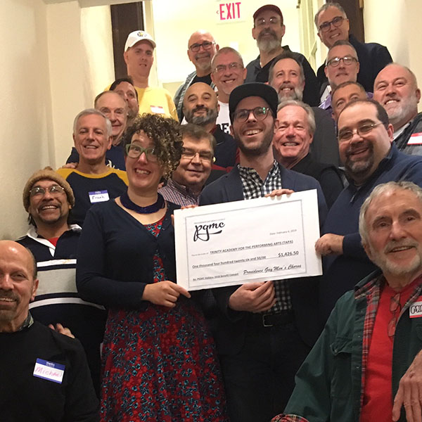 Presentation of 2018 benefit concert check to TAPA